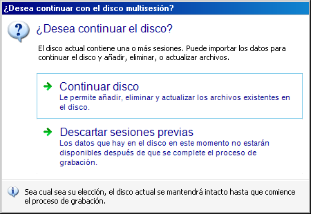 Screenshot:Disco Multisesión