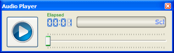 Screenshot: Audio player