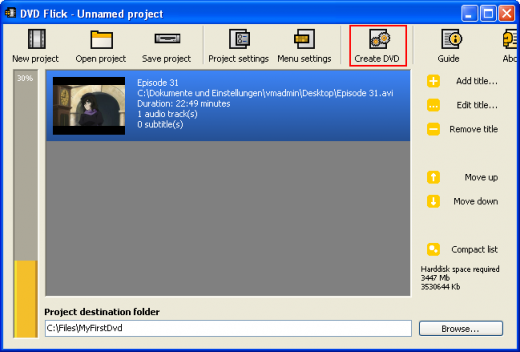 CDBurnerXP: Create a video DVD