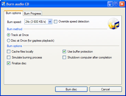 dvd and cd writer software free download